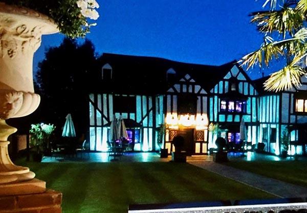 Donnington Manor Hotel, Sevenoaks at night