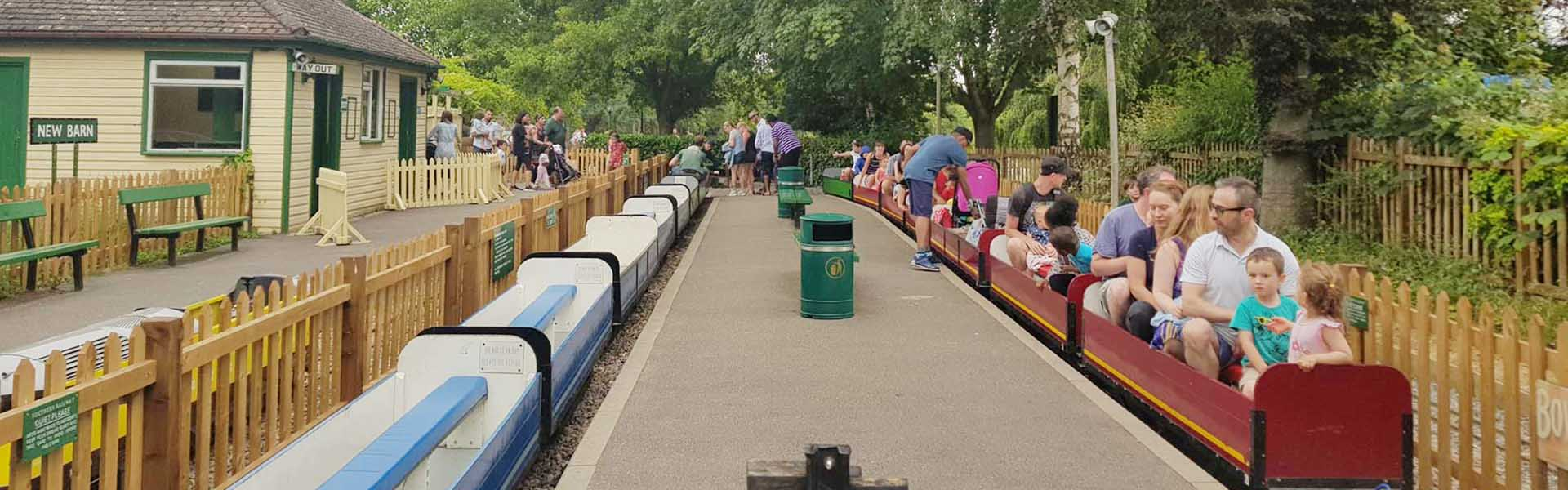 New Barn Station, miniturerailway at Swanley Park