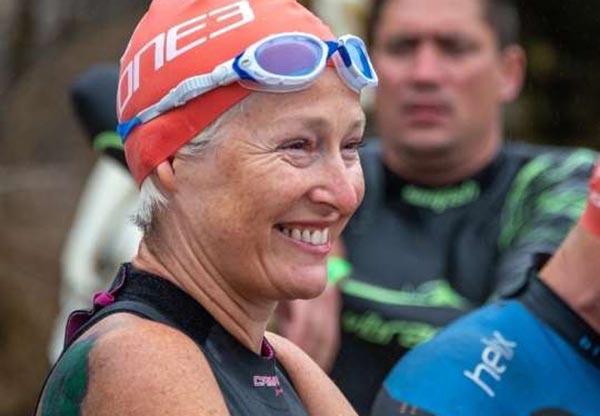 Triathlon swimmer at Hever Castle