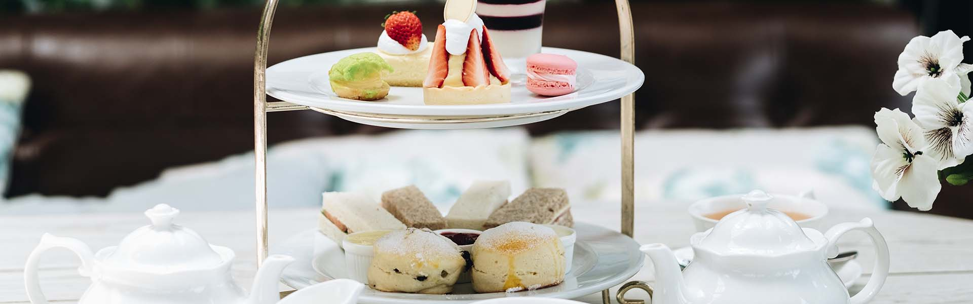 Image of traditional afternoon tea cake stand