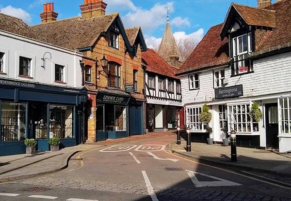 Shops in Church Street Edenbridge