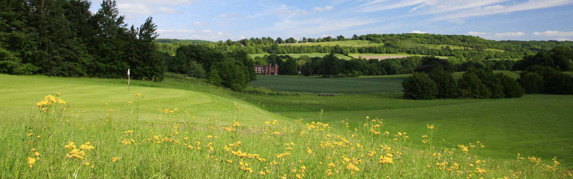 View of Lullingstone Castle from the golf course