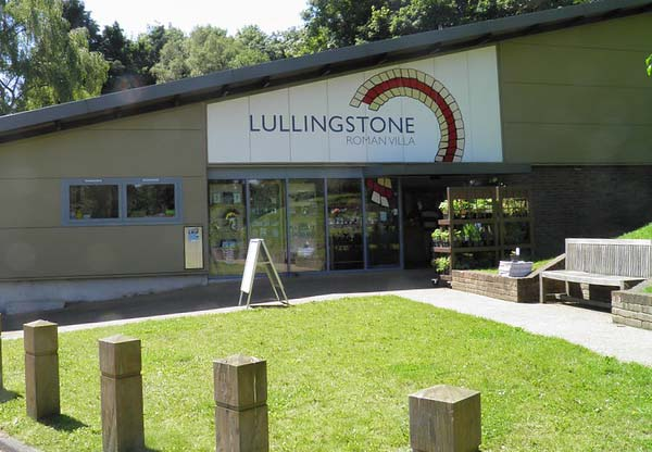 Entrance to Lullingstone Roman Villa